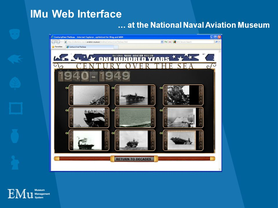 IMu Web Interface … at the National Naval Aviation Museum