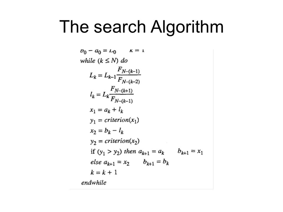 The search Algorithm