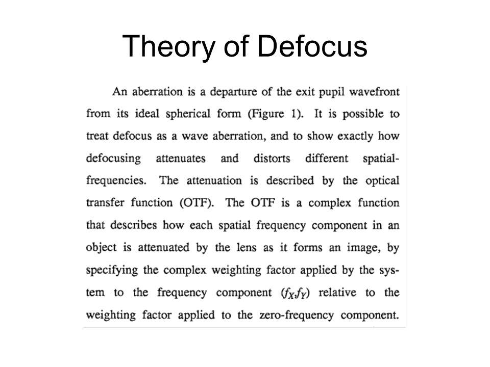 Theory of Defocus
