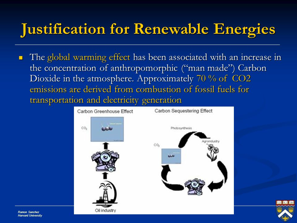 """Ramon Sanchez Harvard University Slide # 5 The global warming effect has been associated with an increase in the concentration of anthropomorphic (""""ma"""
