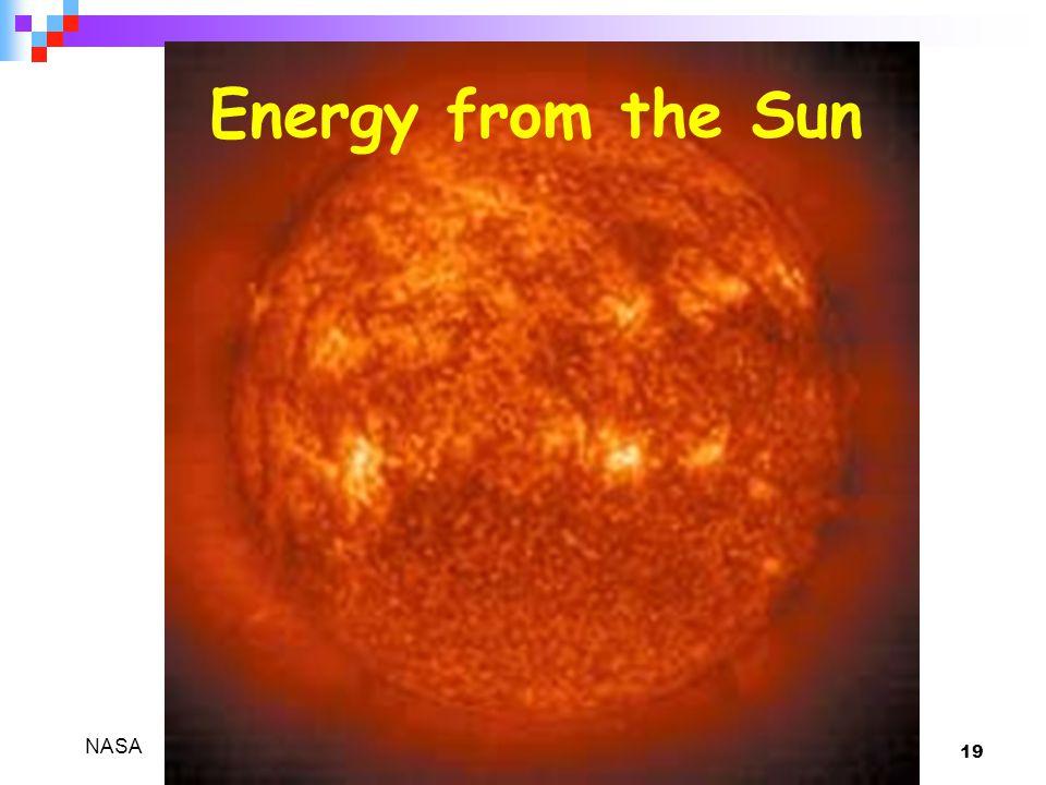 19 Energy from the Sun NASA