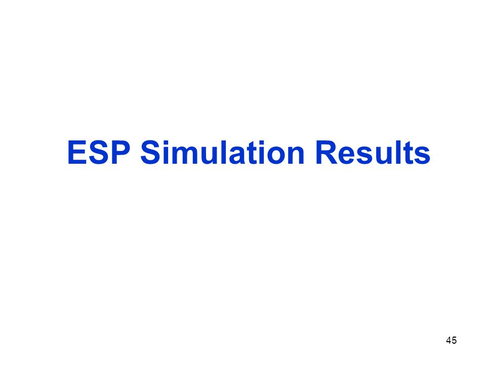 45 ESP Simulation Results