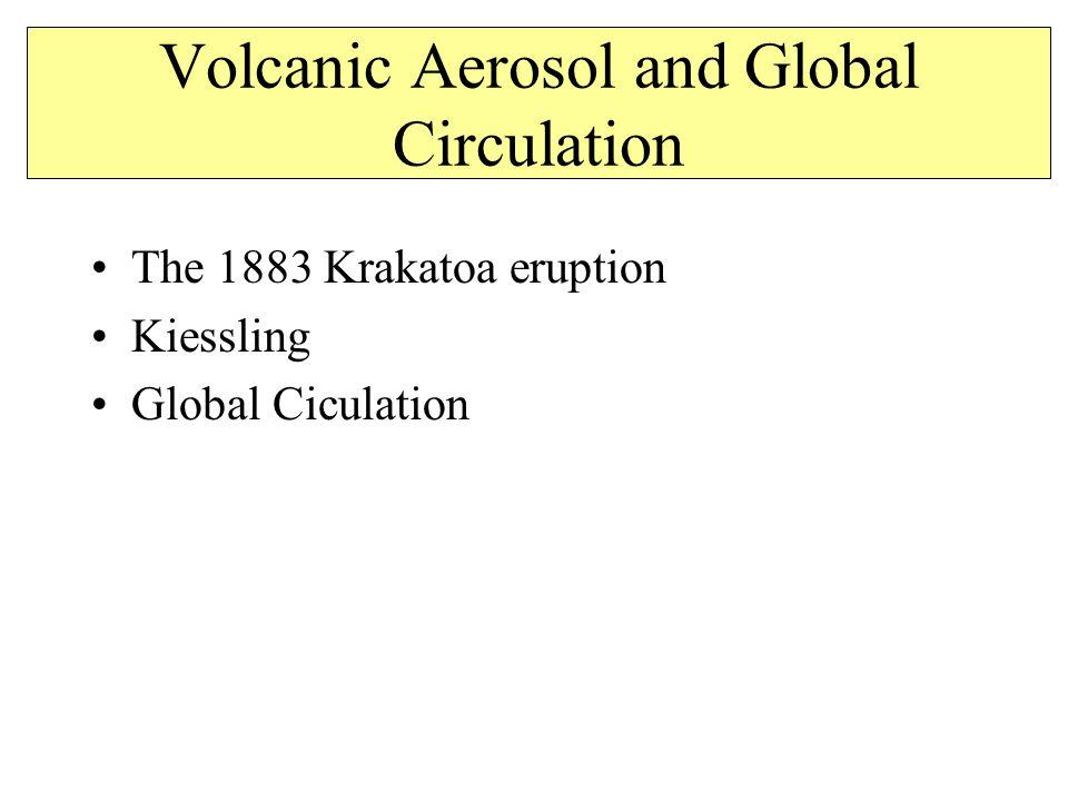 Volcanic Aerosol and Global Circulation The 1883 Krakatoa eruption Kiessling Global Ciculation