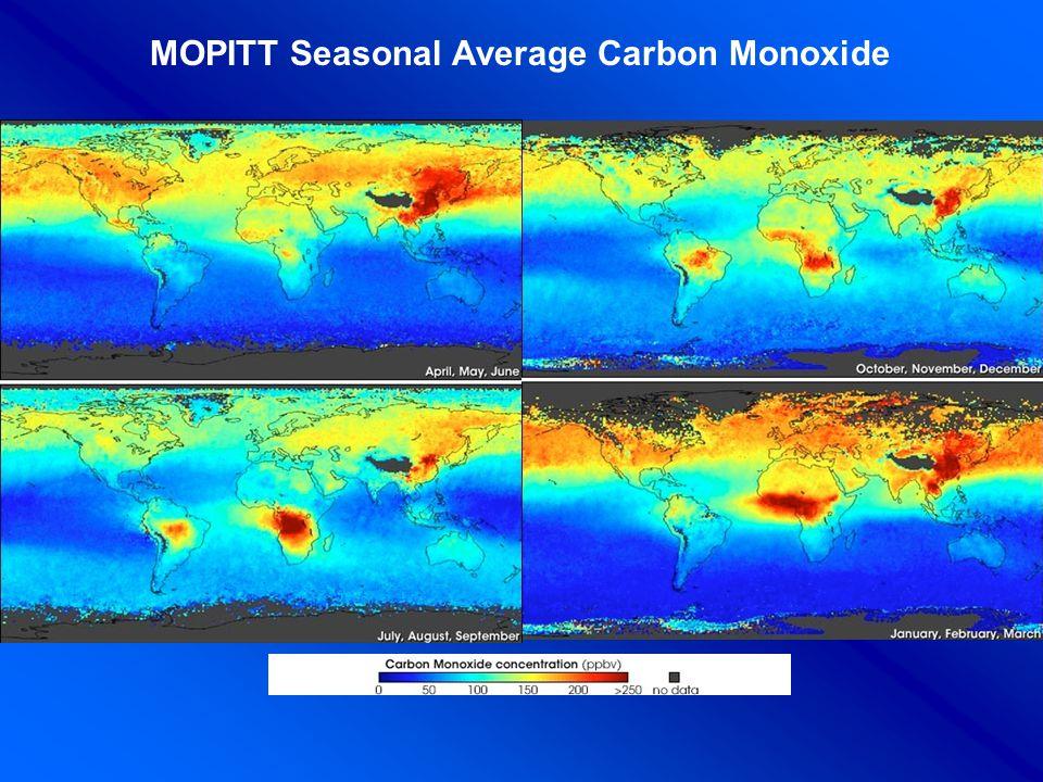 MOPITT Seasonal Average Carbon Monoxide