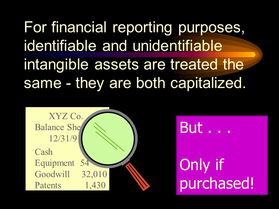 Intangible assets have four unique characteristics that distinguish them from tangible assets: More uncertainty about future benefits Value subject to