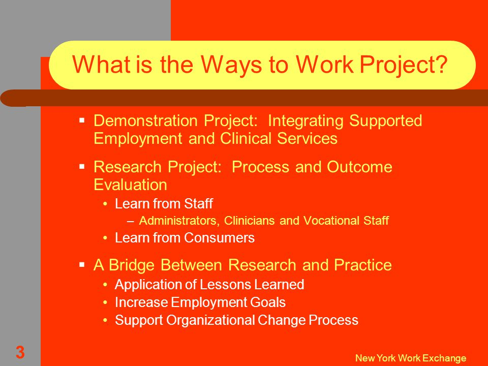 New York Work Exchange 3 What is the Ways to Work Project.