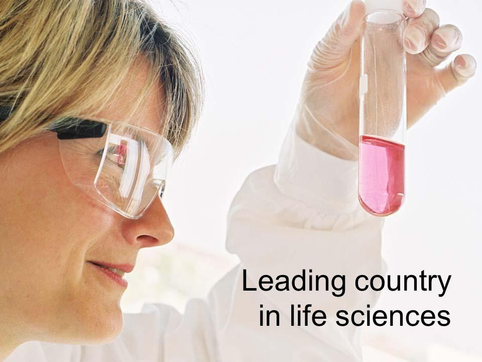 Leading country in life sciences