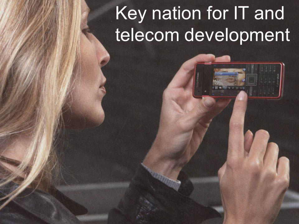 Key nation for IT and telecom development