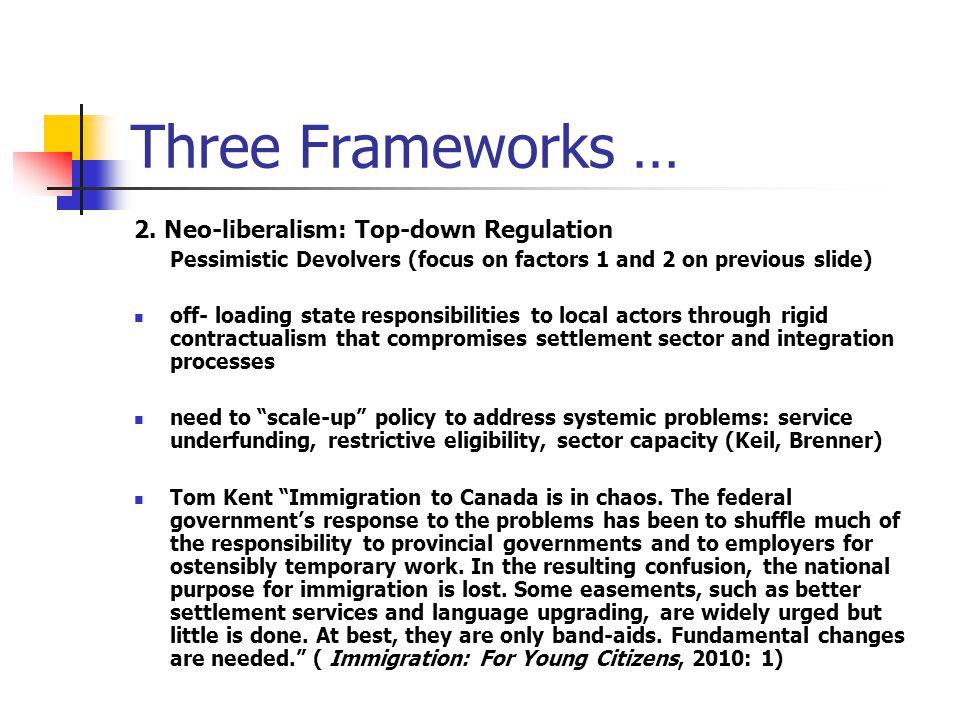 Three Frameworks … 2.