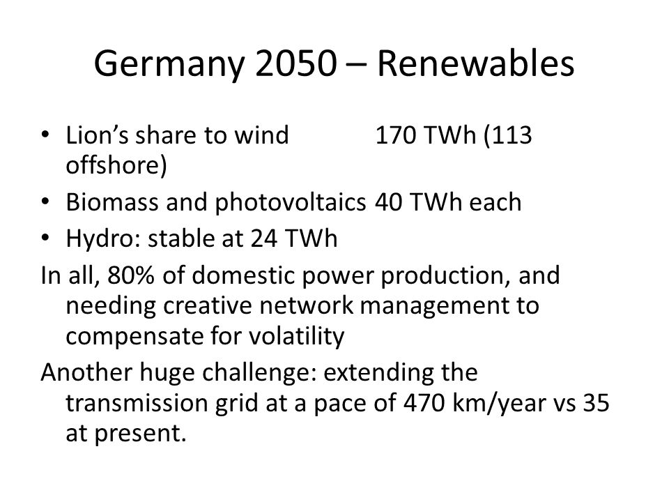 Opportunities and euros The decentralized management of the country opens up great local opportunies and several « cantons » are already generating more energy than they consume (« positive energy ») DIW's prognosis: up to 800 billion € to spend over the coming 50 years.
