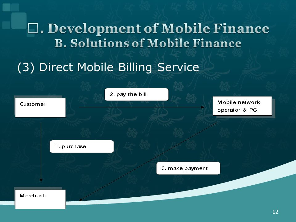 (3) Direct Mobile Billing Service 12