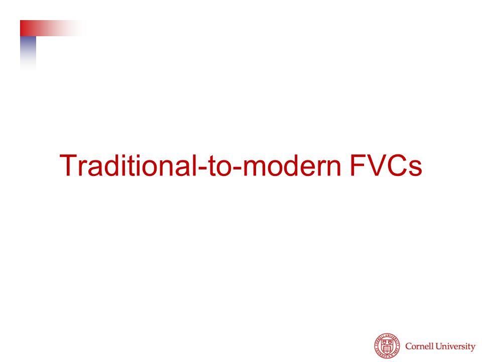 Traditional-to-modern FVCs