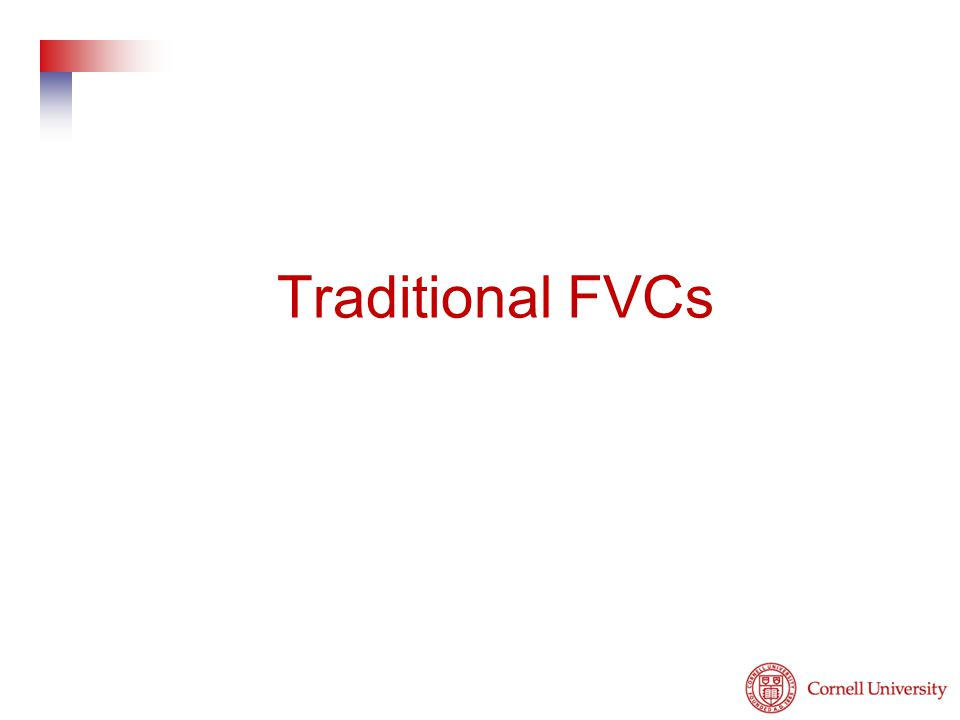 Traditional FVCs