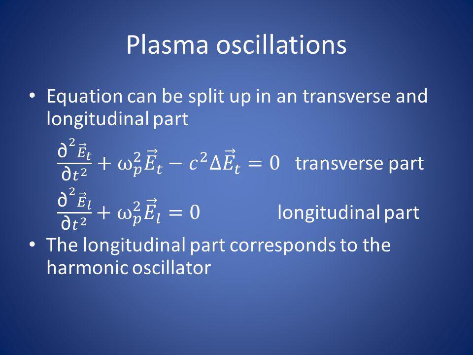 Plasma oscillations