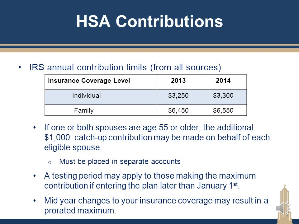 HSA Distributions You can use your HSA funds for the following people: Yourself and spouse All dependents claimed on your tax returns o Even if not co