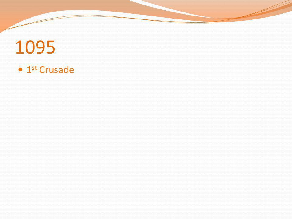 1095 1 st Crusade