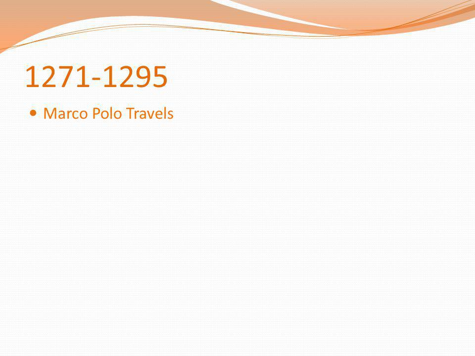 1271-1295 Marco Polo Travels