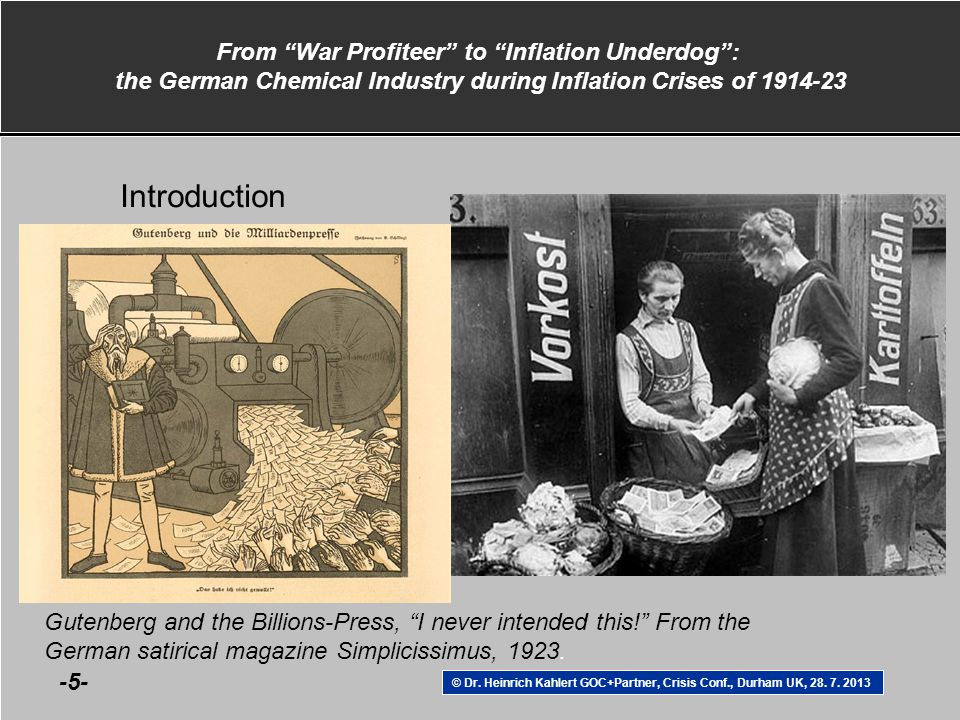 From War Profiteer to Inflation Underdog : the German Chemical Industry during Inflation Crises of 1914-23 © Dr.