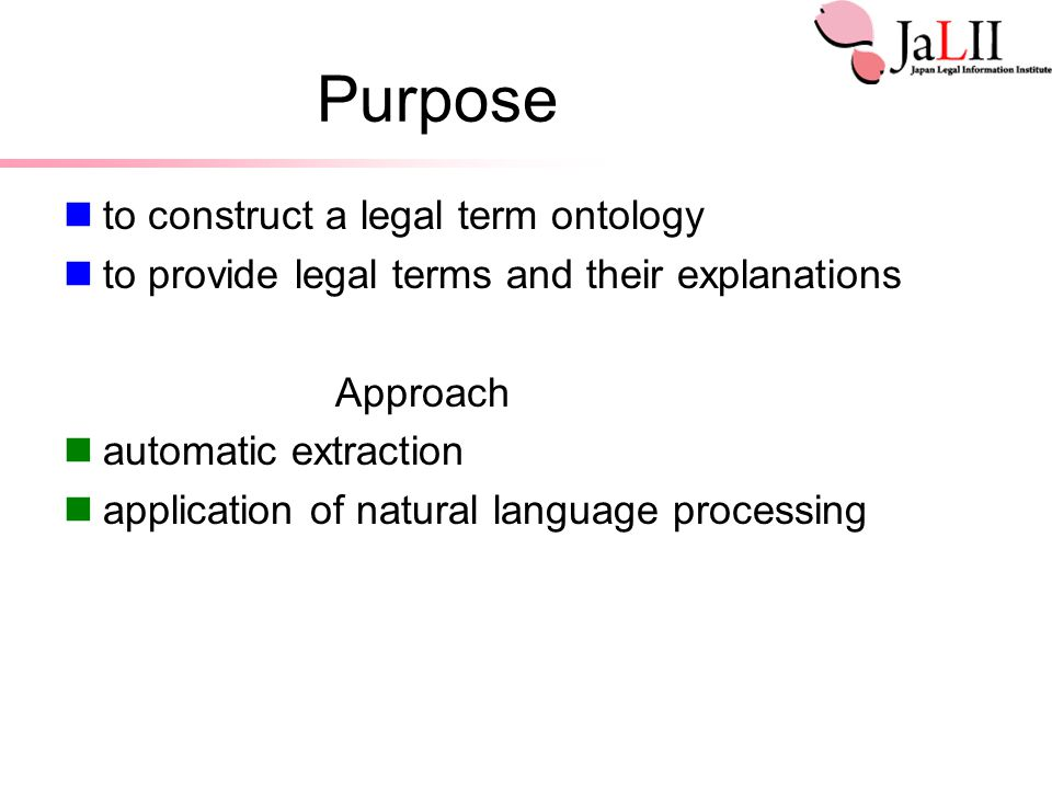 Problems in This Study 1.What are legal terms.