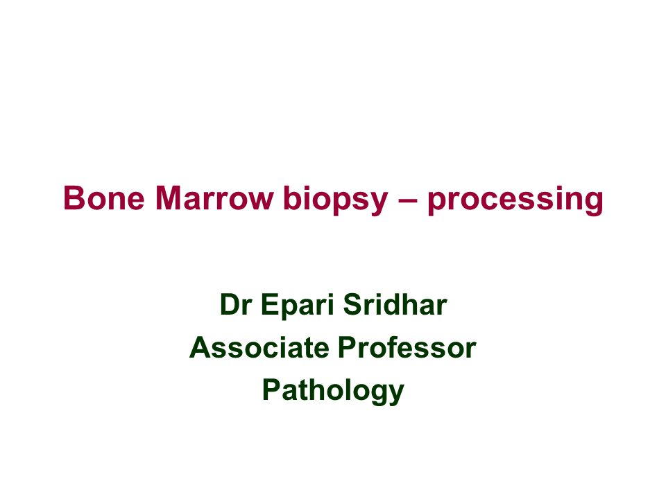 Introduction Examination of the bone marrow (BM) aspirate and trephine biopsy is essential for the diagnosis of BM disorders.