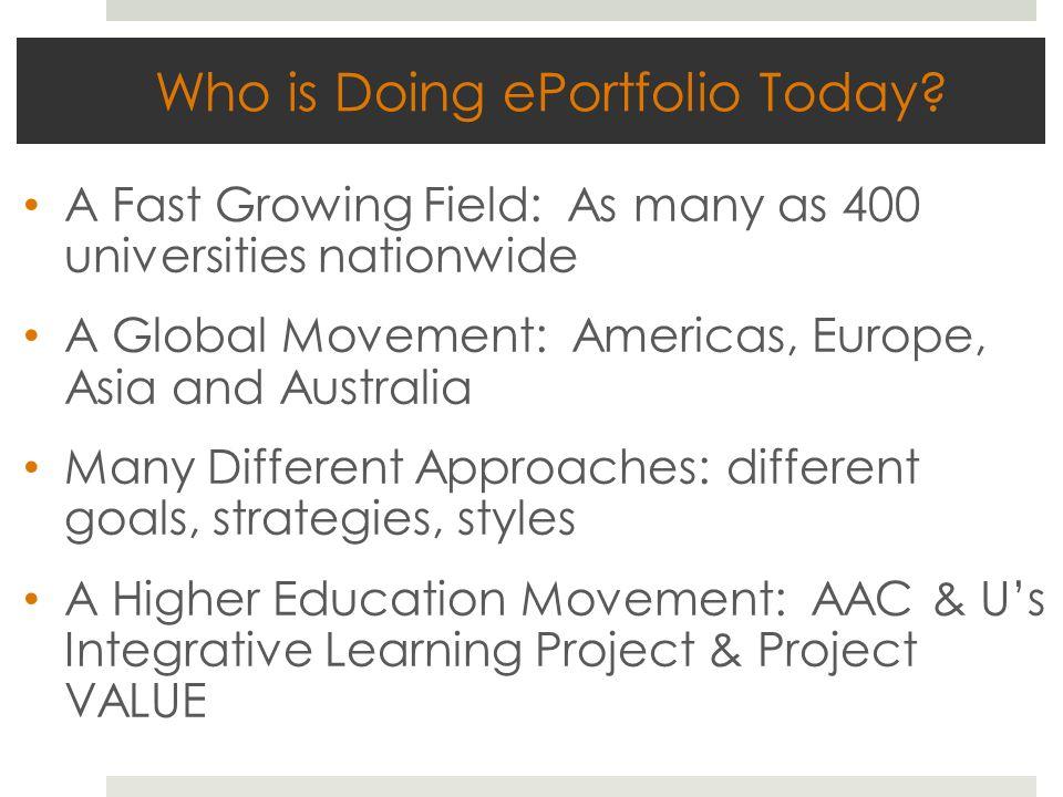 Who is Doing ePortfolio Today.