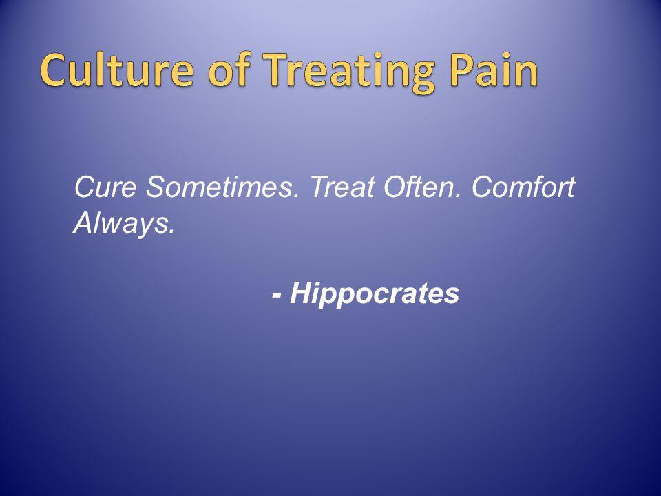 Cure Sometimes. Treat Often. Comfort Always. - Hippocrates