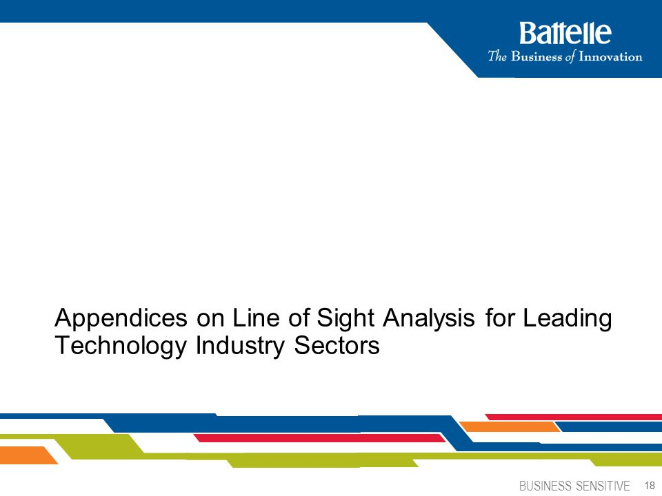 BUSINESS SENSITIVE 18 Appendices on Line of Sight Analysis for Leading Technology Industry Sectors