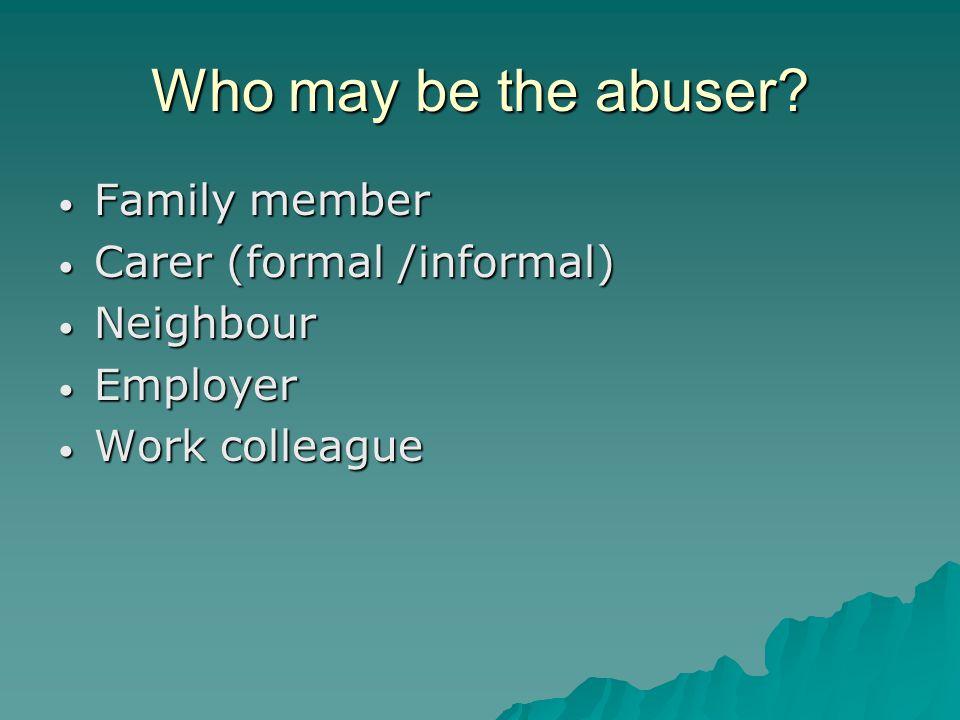 Patterns of Abuse Emotional Emotional Physical Physical Sexual Sexual Discriminatory abuse Discriminatory abuse