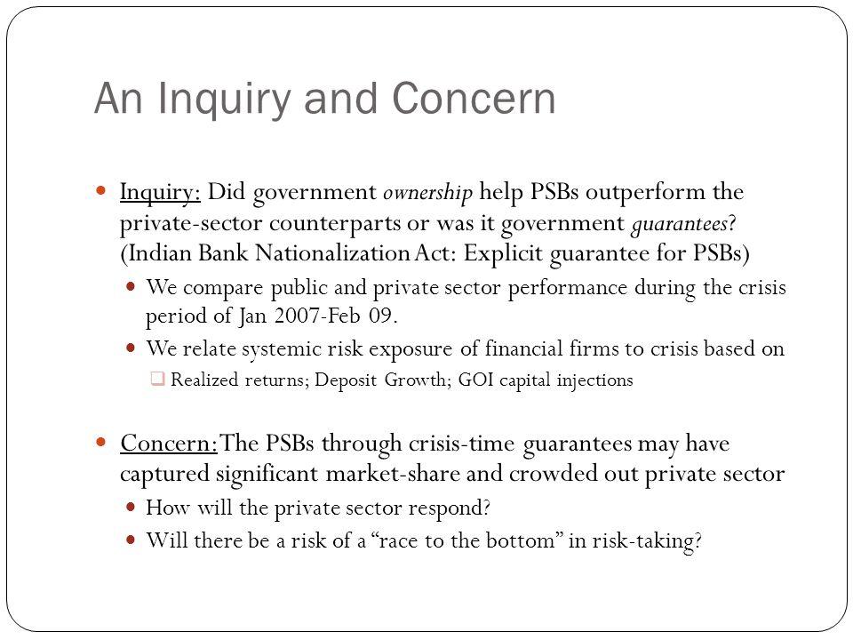 Deposit Growth: Public Sector Firms