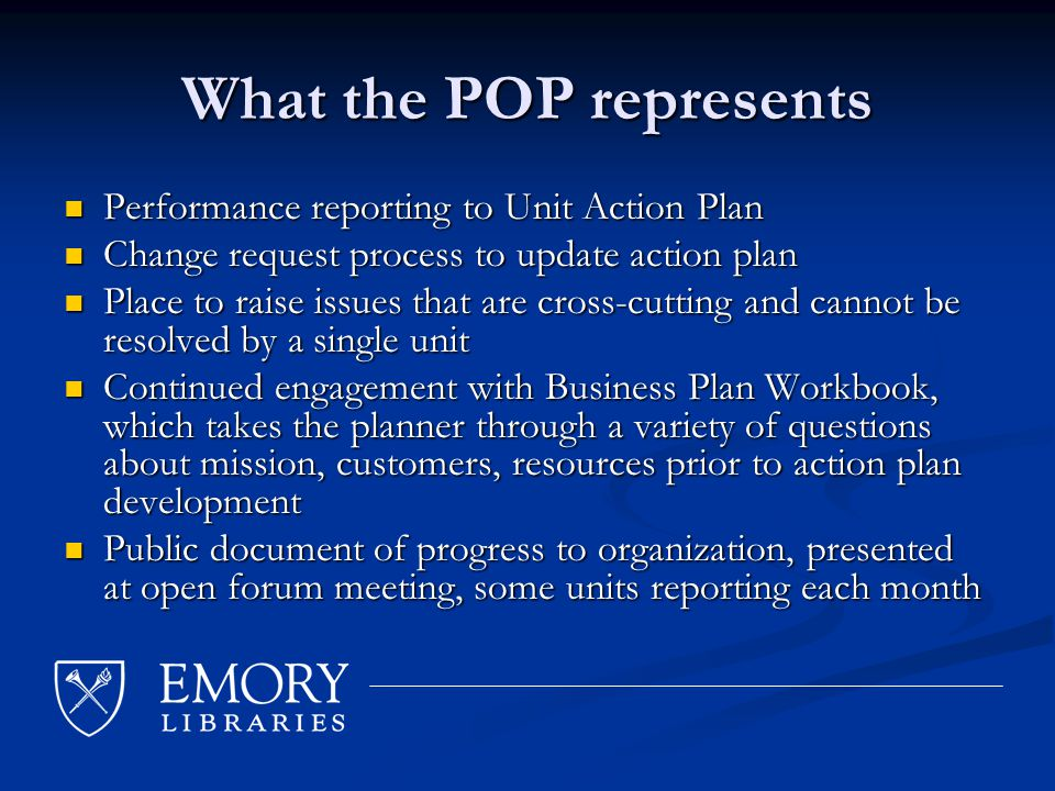 Business Plan Components Action Plan Plan establishes objectives, tasks and milestones; progress reported on via POP Plan establishes objectives, tasks and milestones; progress reported on via POP FY09 additions FY09 additions Cluster meetings among related groups to discuss linkages and relationships (process, personnel, resources, etc.) Cluster meetings among related groups to discuss linkages and relationships (process, personnel, resources, etc.) Customer Matrix Identify/segment customers, their needs, motivations, quantity, distinguishing characteristics, etc.