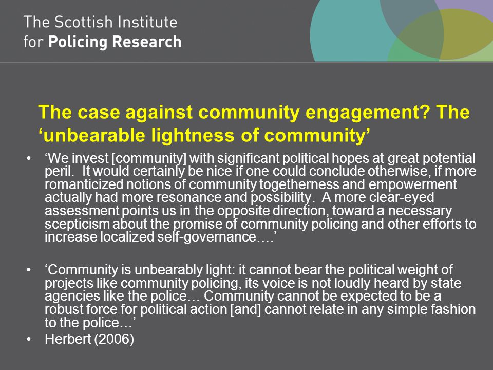 The case against community engagement.
