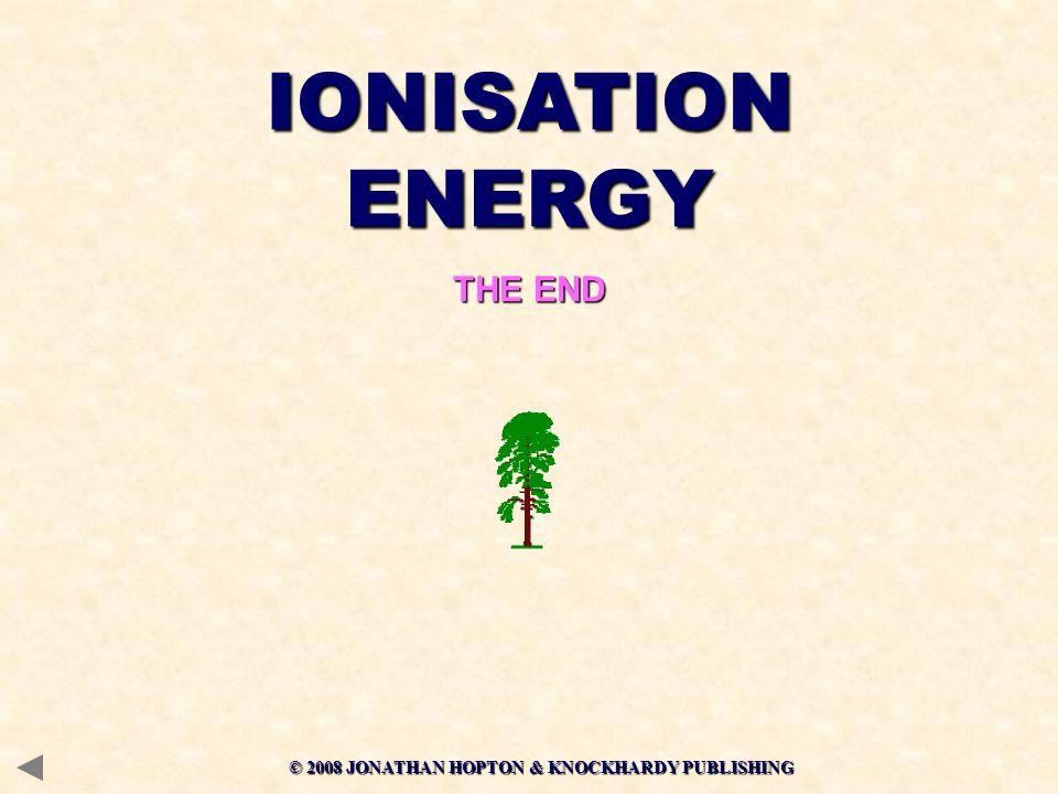 IONISATION ENERGY THE END © 2008 JONATHAN HOPTON & KNOCKHARDY PUBLISHING