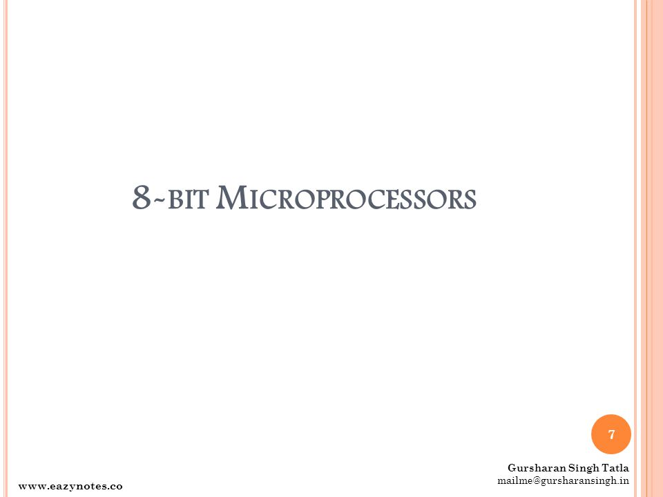 I NTEL C ORE 2  Introduced in 2006. It is a 64-bit µP.