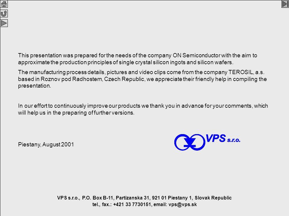 Silicon V2.1 En 2 VPS VPS s.r.o., P.O. Box B-11, Partizanska 31, 921 01 Piestany 1, Slovak Republic tel., fax.: +421 33 7730151, email: vps@vps.sk Thi