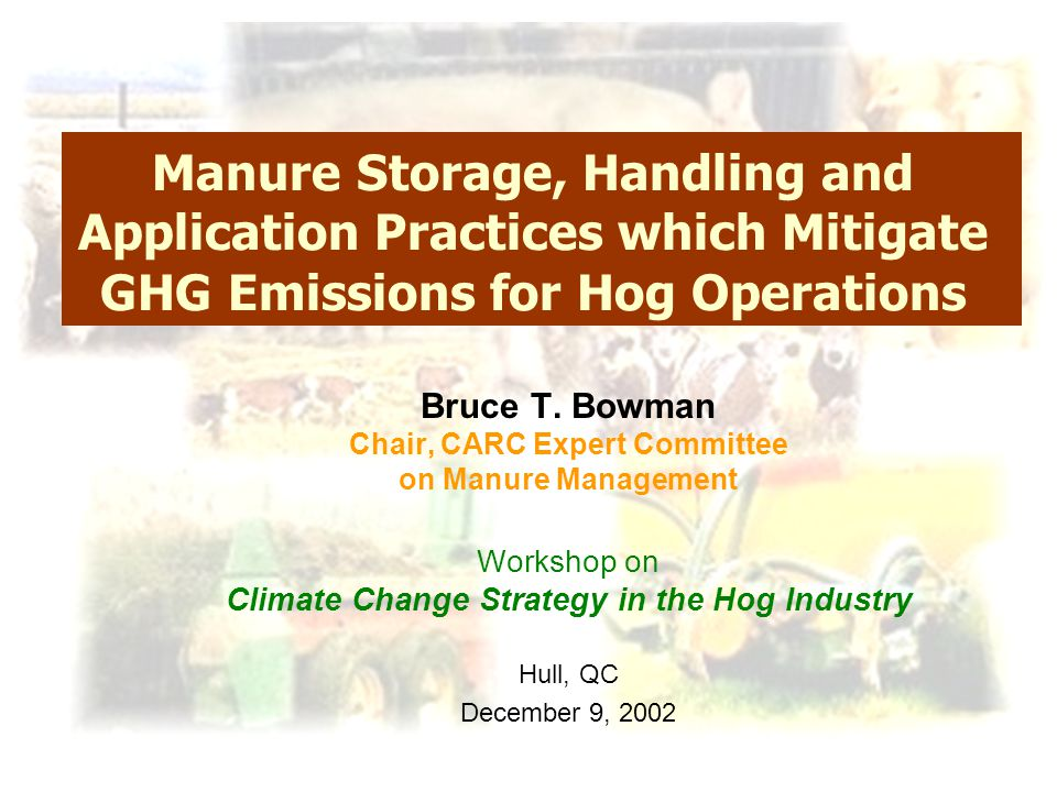  Homogeneous product  More N in mineral form (50% C to methane)  More predictable plant availability  More uniform land application  Increased flexibility for further treatment & managing nutrients Manure Treatment Anaerobic Digestion Additional Benefits – IF have excess nutrients, separate solids  organic amendments / org.