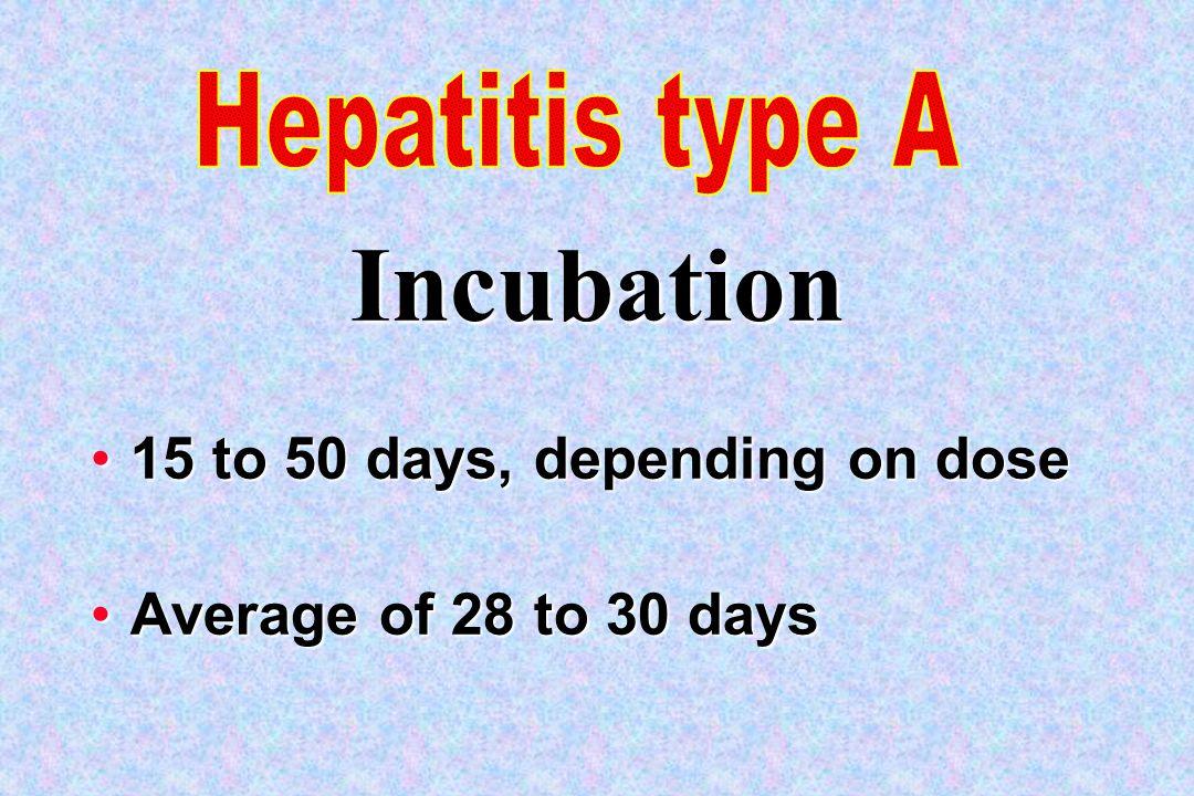 15 to 50 days, depending on dose15 to 50 days, depending on dose Average of 28 to 30 daysAverage of 28 to 30 days Incubation