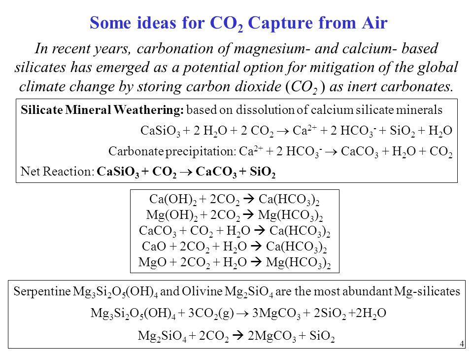 1997 LACKNER 1997 LACKNER Carbonation of magnesium silicates Magnesium resources far exceed world fossil fuel supplies