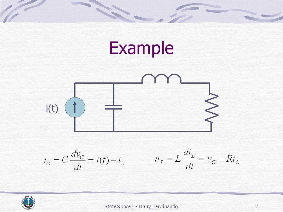 State Space 1 - Hany Ferdinando7 Example i(t)
