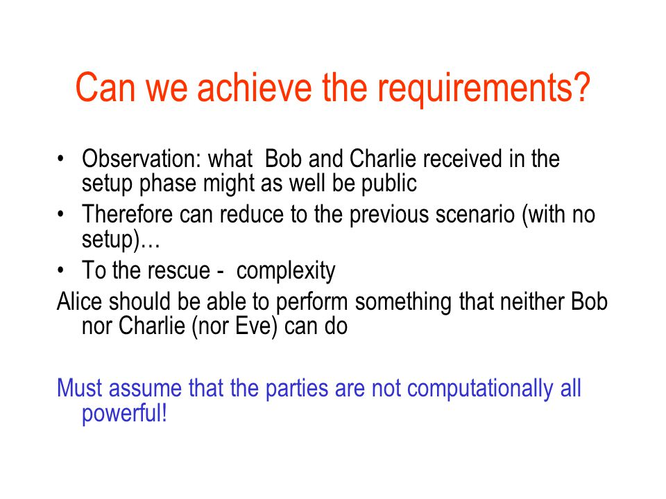 Can we achieve the requirements.