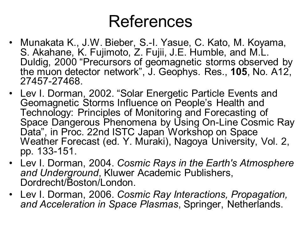 References Munakata K., J.W. Bieber, S.-I. Yasue, C.