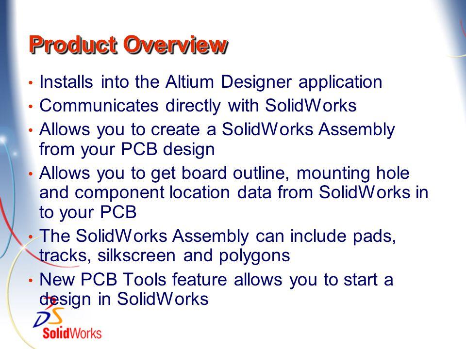 Installs inside Altium Designer Toolbar is added Sub-menu is added to the File menu