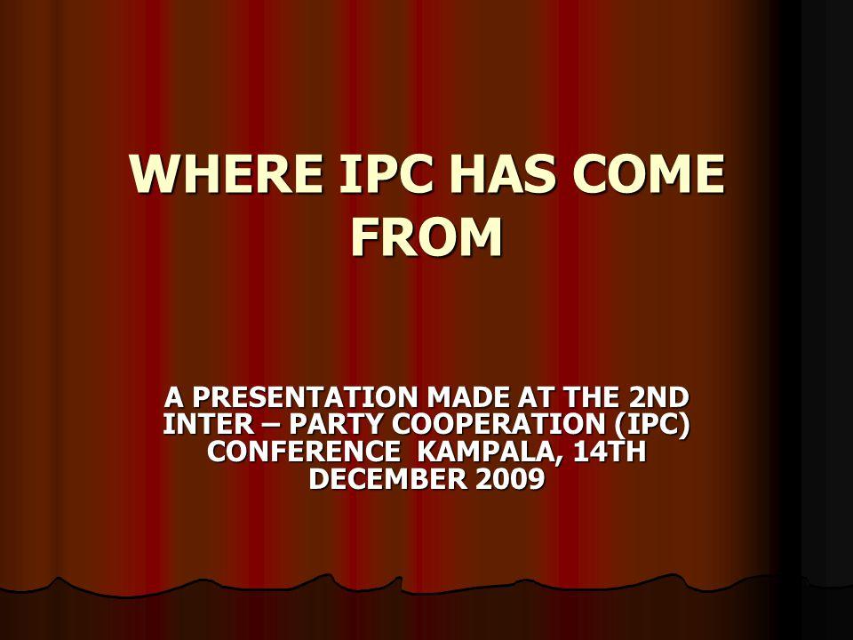 BY DR. FRANK NABWISO (ON BEHALF OF THE IPC SECRETARIAT