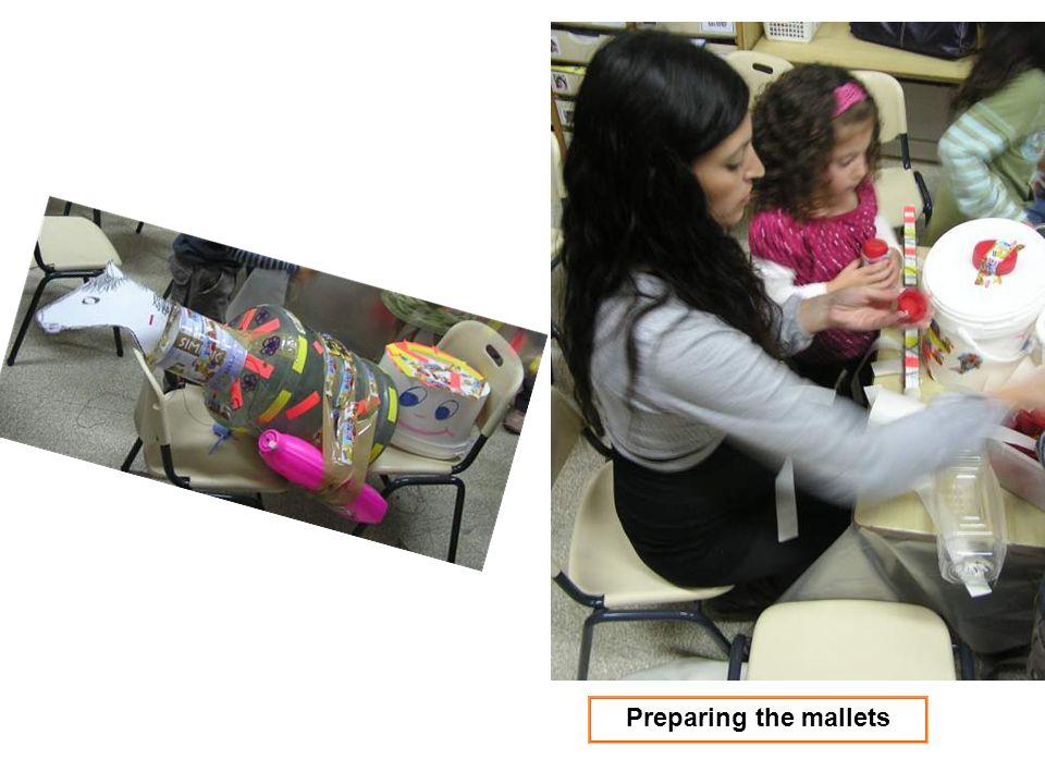 Preparing the mallets