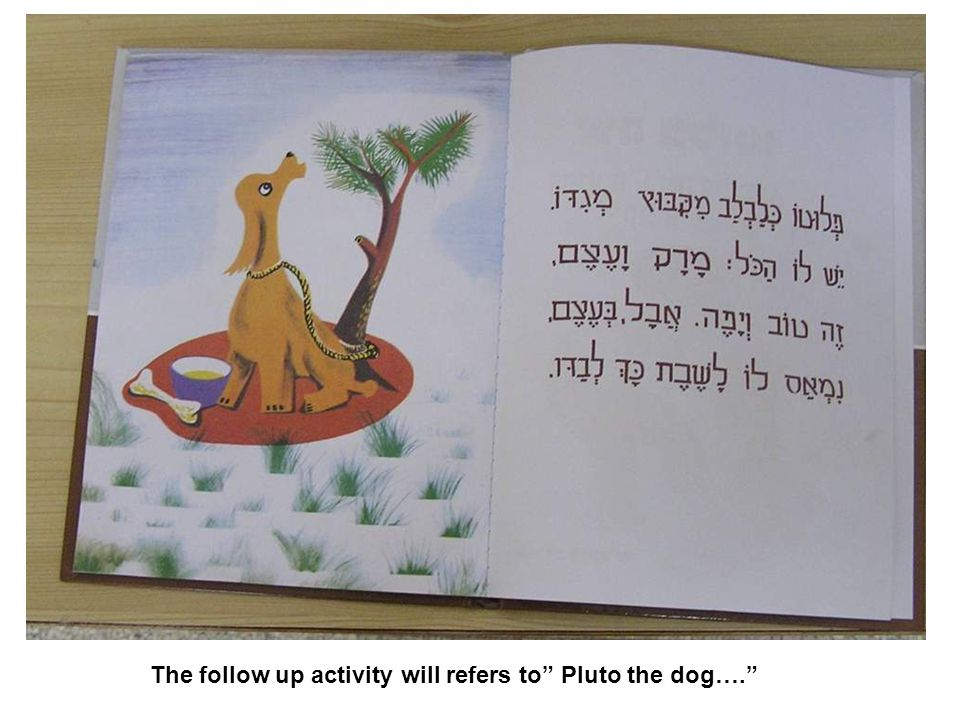 The follow up activity will refers to Pluto the dog….