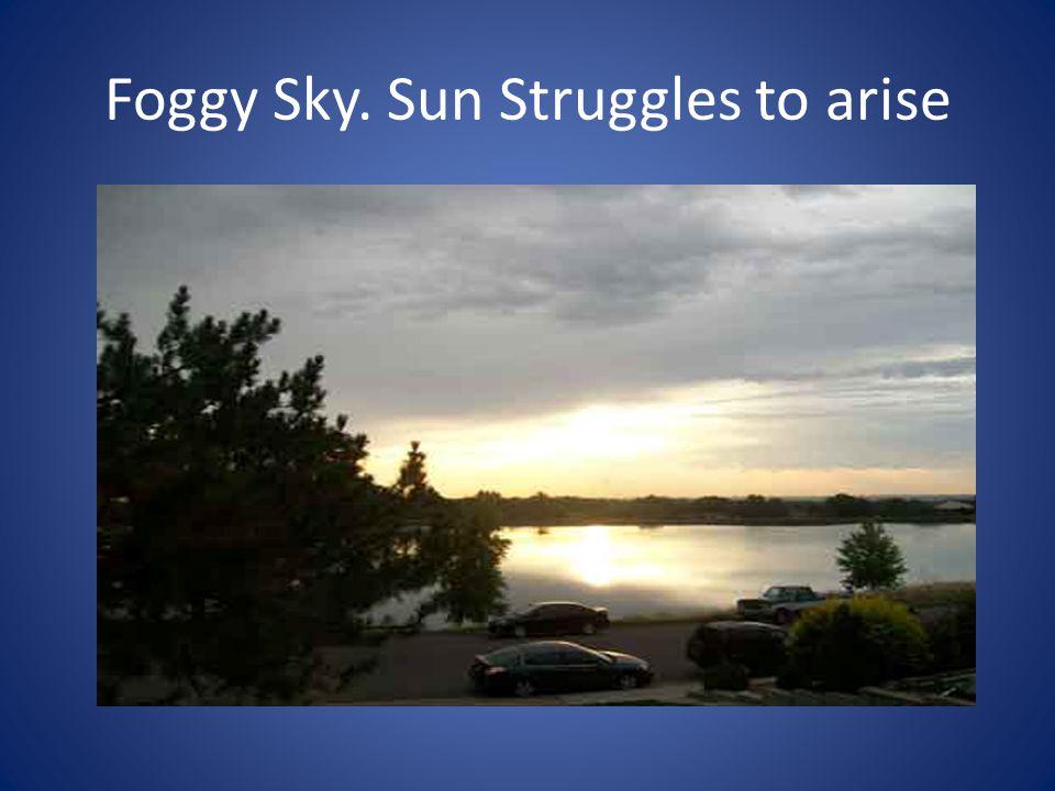 Foggy Sky. Sun Struggles to arise