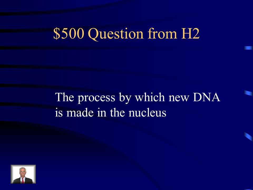$400 Answer from H2 What is deoxyribonucleic acid?