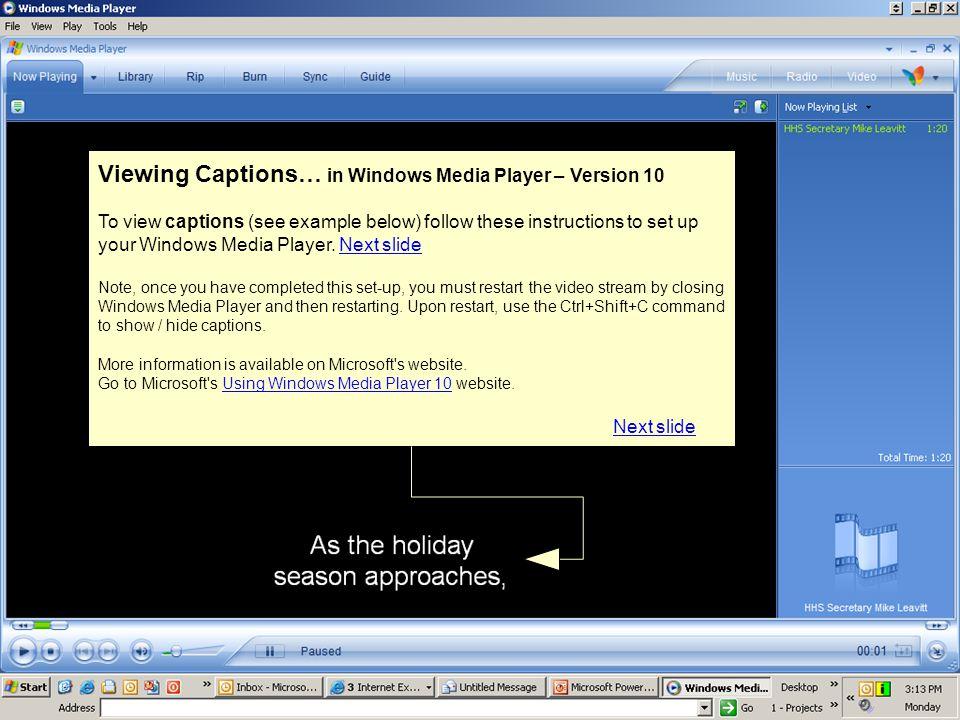 Step 1: Go to the Tools menu and select Options… BackBack Next slide Next slide