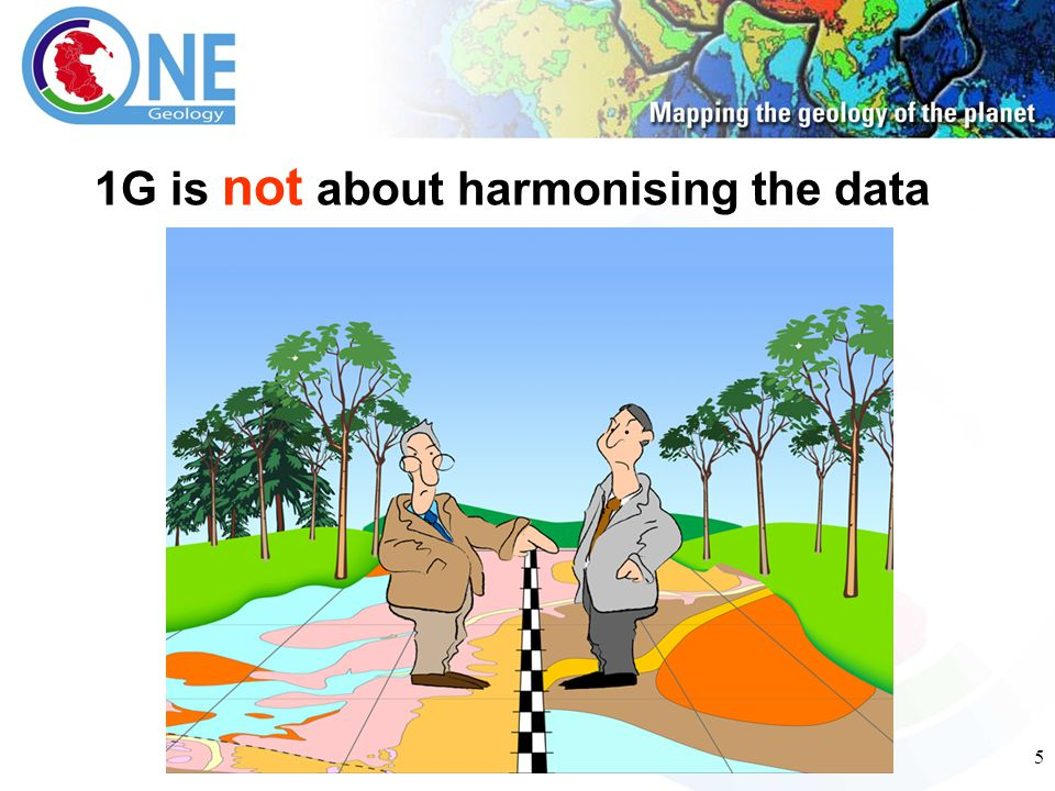 5 1G is not about harmonising the data