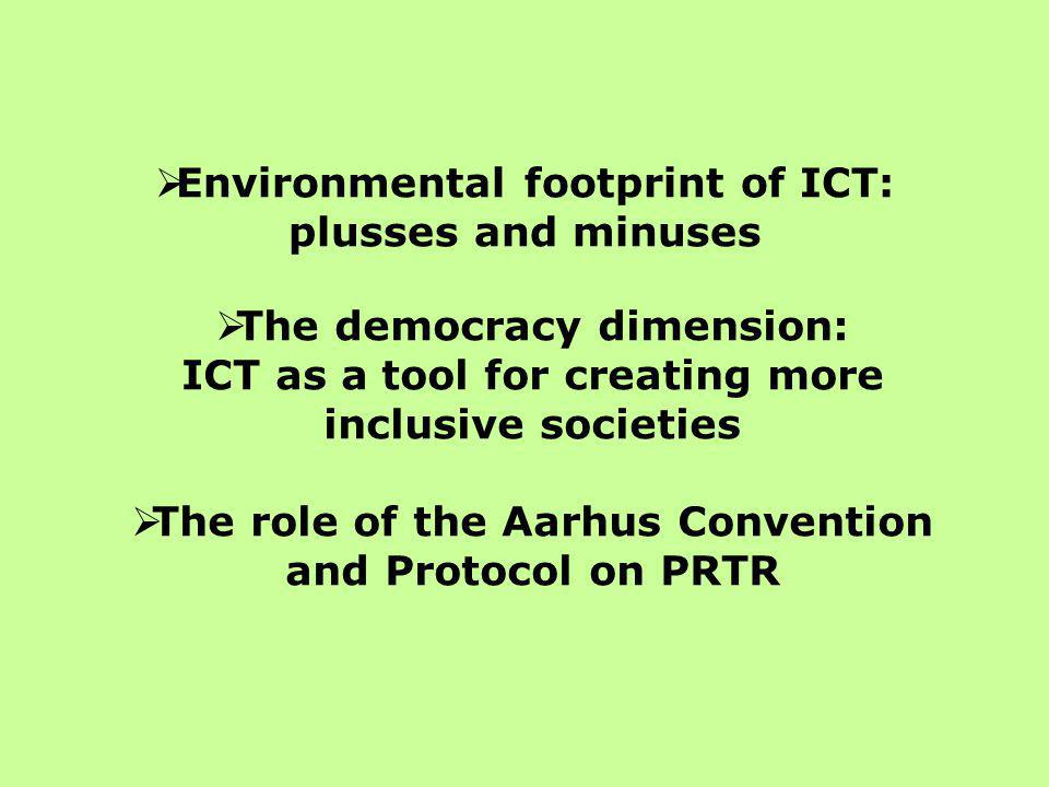 The quest for environmental sustainability… ICT has the potential to significantly reduce environmental impacts:  Teleworking  Virtual conferencing  Paperless offices  Efficiencies in distribution of products and services But how much is it really happening?