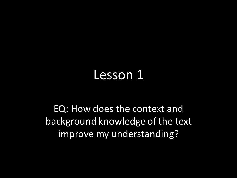 Standards ELACC7RL1, ELACC7RL3, ELACCRL10, ELACC7RI1, ELACCRI2, ELACCRI3 Task Reading biography; reading new text; completing QFR chart